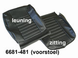 Set bekleding Skai zwart t.b.v. voorstoelen en achterbank vanaf '80_