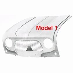 Motorkap 1e model (harpgrille)