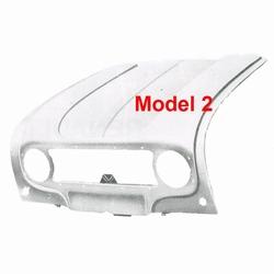 Motorkap 2e model (alu grille, ronde clignoteur)