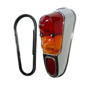 Achterlichtglas chroom rechtsachter Renault 4 incl. afdichtrubber