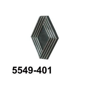 Logo t.b.v. grille  zwart 74 ->  /  beige 78->