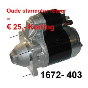 Startmotor 3-gats 12V  ( incl. € 25.- statiegeld )