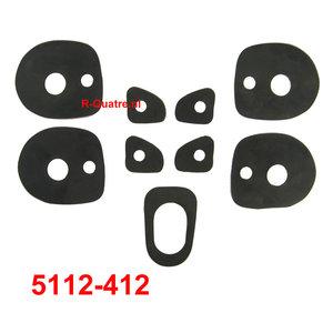 Set rubber pakkingen t.b.v. 4x kunststof handgreep +A