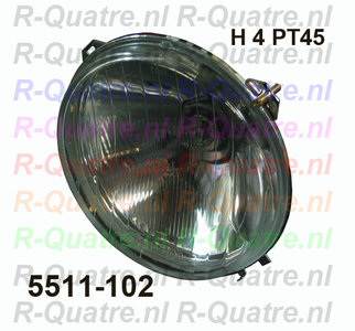 Koplamp reflector H4 (incl H4 PT45 lamp ) prod aftermarket