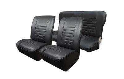 Set bekleding Skai zwart t.b.v. voorstoelen en achterbank vanaf '80